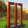 Charming garden decoration-corten steel water fall