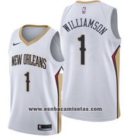 New Orleans Pelicans Zion Williamson NO 1 Association 2019-20 White J