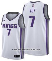 Sacramento Kings Kyle Guy NO 7 Association Shirt 2019-20 White