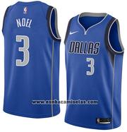 Dallas Mavericks Nerlens Noel NO 3 Icon 2018 Jersey Blue
