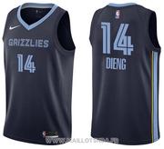 Memphis Grizzlies Gorgui Dieng NO 14 Icon Blue Jersey