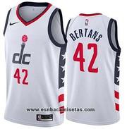 Washington Wizards Davis Bertans NO 42 City Edition White Jersey