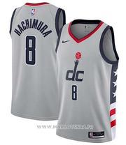 Washington Wizards Rui Hachimura NO 8 Ciudad 2020-21 Gray Jersey