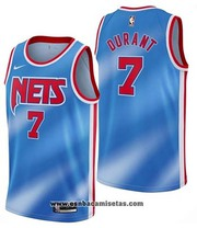 Brooklyn Nets Kevin Durant Classic NO 7 2020-21 Blue Jersey
