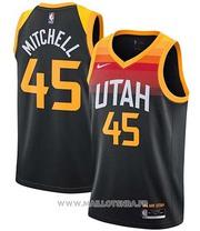Utah Jazz Onovan Mitchell NO 45 Ciudad 2020-21 Negro Jersey