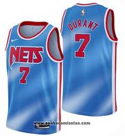 Camiseta Brooklyn Nets Kevin Durant Classic NO 7 2020-21 Azul