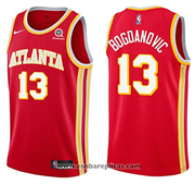 Atlanta Hawks Bogdan Bogdanovic NO 13 Icon 2020-21 Red Jersey