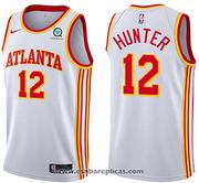 Atlanta Hawks De'Andre Hunter NO 12 Association 2020-21 White Jersey