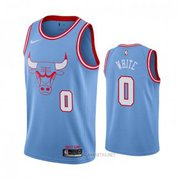 Chicago Bulls Coby White NO 0 Blue City Jersey