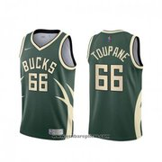 Milwaukee Bucks Axel Toupane NO 66 Earned 2020-21 Green Jersey